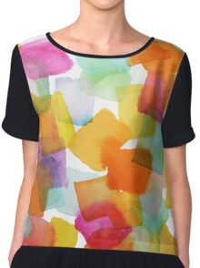 Color Squares Chiffon Top