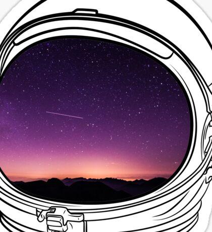 Sunset on the Moon Sticker