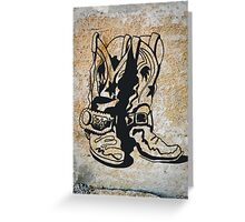 Cowgirl Cowboy Western Rodeo Boots Greeting Card