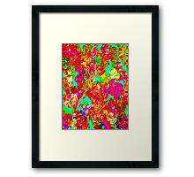 """ABSTRACT FLOWER GARDEN"" Painting Print Framed Print"