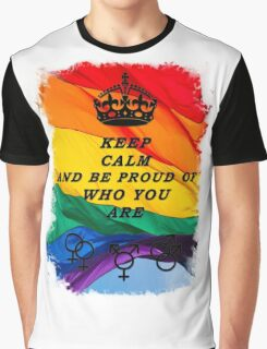 LGBT KEEP CALM BLACK Graphic T-Shirt