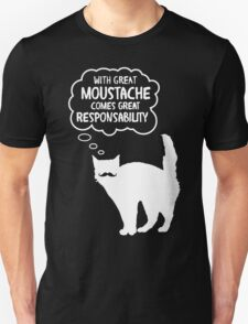 With Great Moustache Unisex T-Shirt