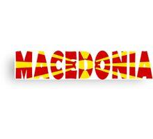 Macedonia Canvas Print