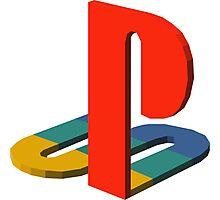 3-D Playstation Logo Photographic Print