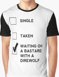 Game of Thrones - B*stard with a Direwolf Graphic T-Shirt
