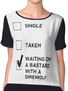 Game of Thrones - B*stard with a Direwolf Chiffon Top