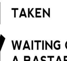 Game of Thrones - B*stard with a Direwolf Sticker
