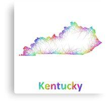 Rainbow Kentucky map Canvas Print