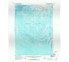USGS TOPO Map Alaska AK Baird Inlet B-8 354129 1954 63360 Poster