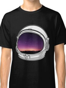 Sunset on the Moon on white  Classic T-Shirt