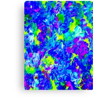 """""""PSYCHEDELIC FLOWER GARDEN"""" Abstract Painting Print Canvas Print"""