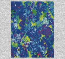 """""""PSYCHEDELIC FLOWER GARDEN"""" Abstract Painting Print One Piece - Short Sleeve"""