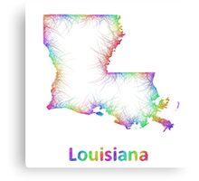 Rainbow Louisiana map Canvas Print