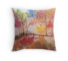 Vivid Colours Get Inspired ! Throw Pillow