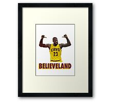 Believeland Framed Print