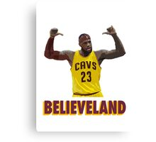 Believeland Canvas Print
