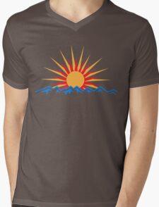 Mountain Sunrise Mens V-Neck T-Shirt