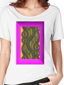 Villette Black Lace Women's Relaxed Fit T-Shirt