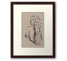 Side Nude - Willow Framed Print