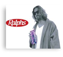 69 cent.  Jeffrey Lebowski, AKA The Dude at Ralph's Canvas Print