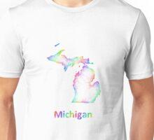 Rainbow Michigan map Unisex T-Shirt