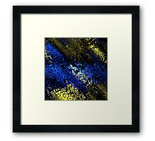 Blue Gold and black abstract Framed Print