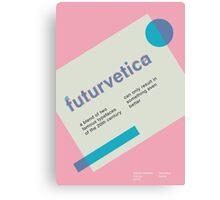 futurvetica BLUE/PINK Canvas Print