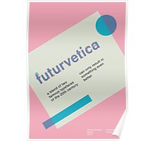 futurvetica BLUE/PINK Poster