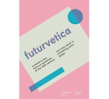 futurvetica BLUE/PINK Photographic Print