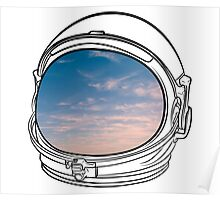Blue Sky on the Moon on white Poster
