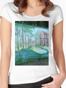 VILLAGE ALLOTMENT PROJECT Women's Fitted Scoop T-Shirt