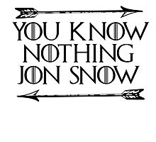 You Know Nothing Jon Snow by Mondo100