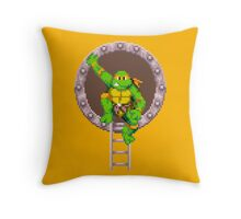 TURTLES IN TIME - MICHAELANGELO  Throw Pillow