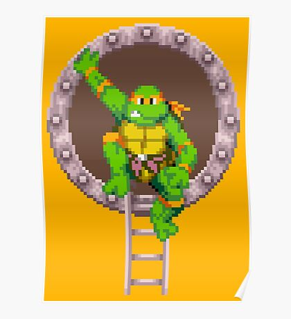 TURTLES IN TIME - MICHAELANGELO  Poster
