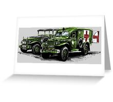 Dodge WC54 and WC51 Greeting Card