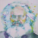 KARL MARX - watercolor portrait by lautir