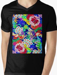 """COLORFUL ABSTRACT FLOWER"" Art Print Mens V-Neck T-Shirt"