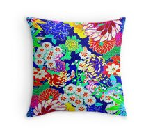 """COLORFUL ABSTRACT FLOWER"" Art Print Throw Pillow"