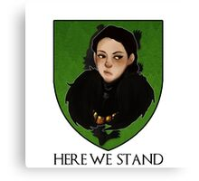 Lady Lyanna of the House Mormont Canvas Print