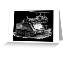 M113 and UH1 Greeting Card