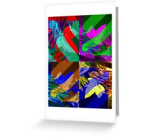 Psychedelic Panels  Greeting Card