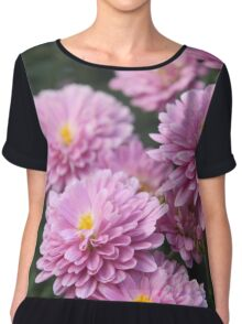 Pretty in Pink Blooming Flowers Chiffon Top