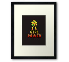 8 Bit Girl Power Framed Print