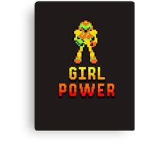 8 Bit Girl Power Canvas Print