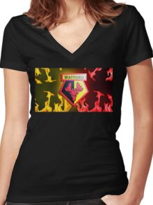 Watford Crest Women's Fitted V-Neck T-Shirt