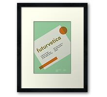 futurvetica GREEN/ORANGE Framed Print