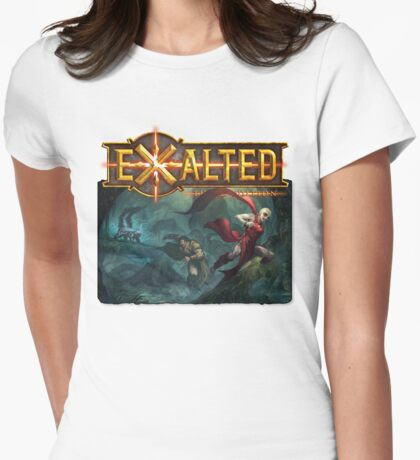 Exalted Art: Skunk Womens Fitted T-Shirt