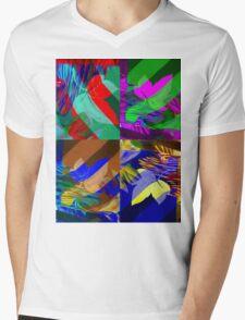 Psychedelic Panels  Mens V-Neck T-Shirt