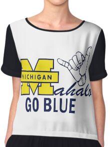 Go Blue HAWAII! Mahalo Chiffon Top