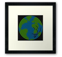 Silly Earth Framed Print